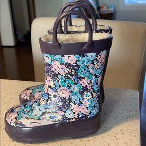 Joe Fresh Flowered Warm Lined Rainboots